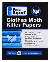 Pest Expert Clothes Moth Killer Papers